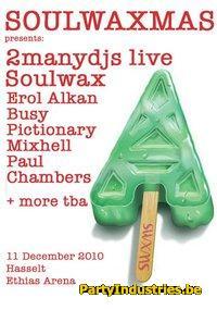 Flyer van Soulwaxmas 2010