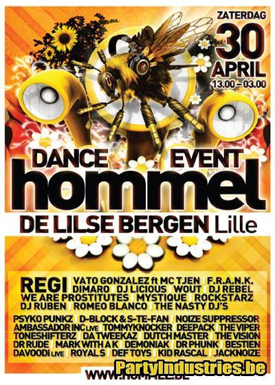 Flyer van Hommel Dance Event