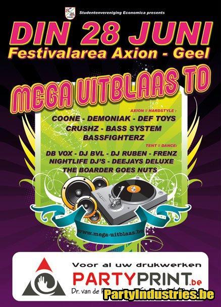 Flyer van Mega Uitblaas TD