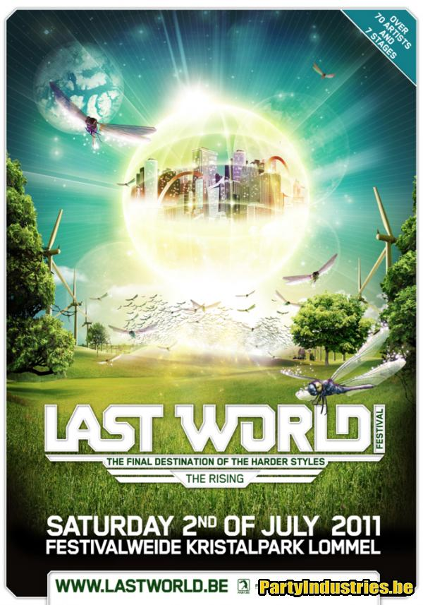 Flyer van Last World Festival 2011 - The Rising