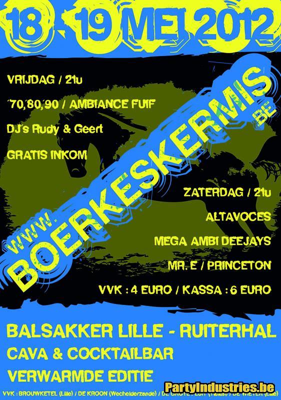 Flyer van Boerkeskermis 2012 Zaterdag