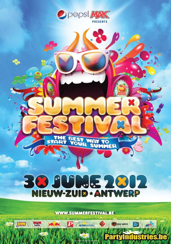 Flyer van Summerfestival 2012