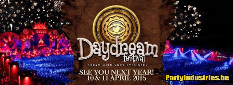Flyer van Daydream Festival 2015 - Dream With Your Eyes Open