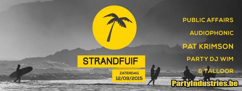 Flyer van Strandfuif