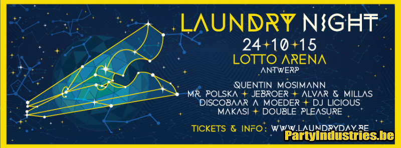 Flyer van Laundry Night