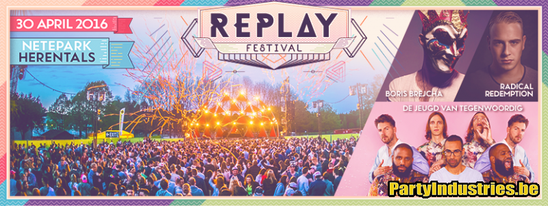 Flyer van Replay festival