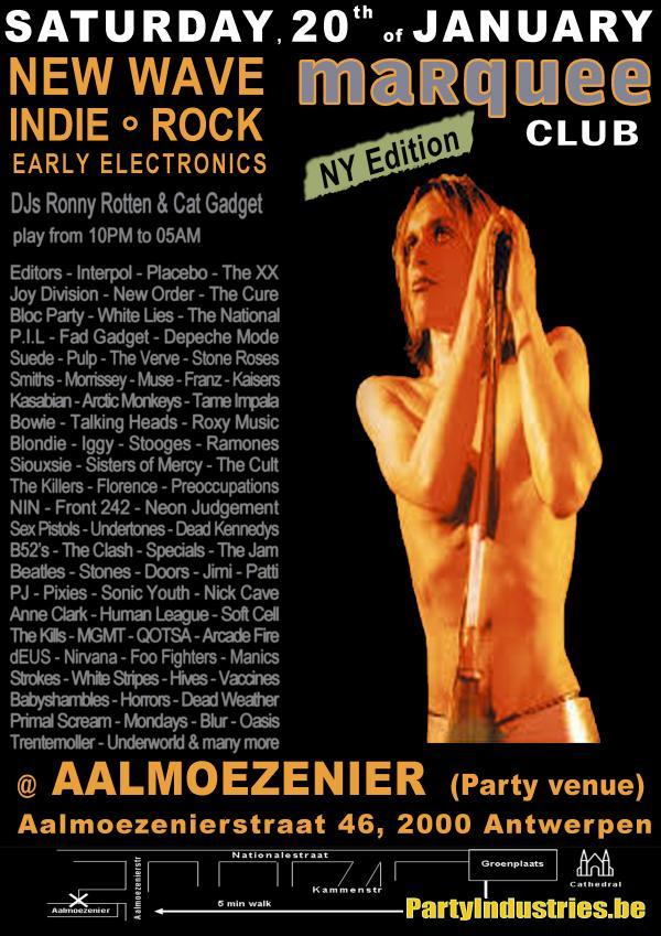 Flyer van marquee club NY Edition