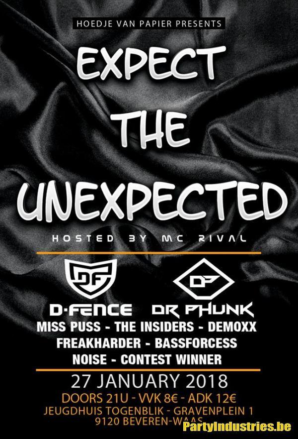 Flyer van Hoedje van Papier: Expect the Unexpeted