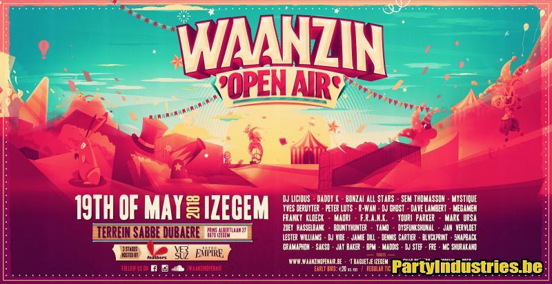 Flyer van Waanzin Open Air 2018