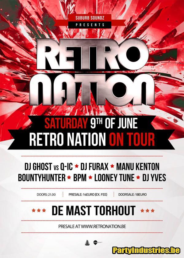 Flyer van Retro Nation on Tour: Torhout