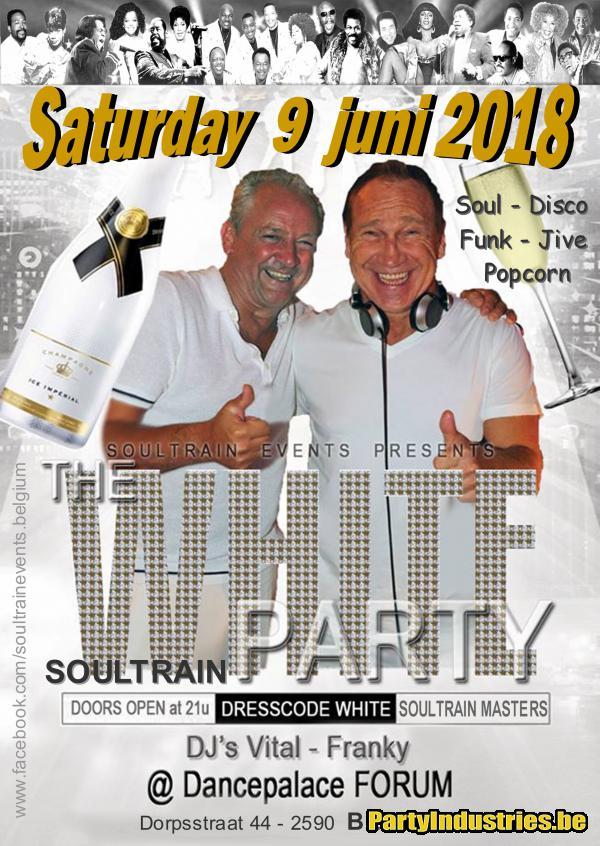 Flyer van SOULTRAIN WHITE PARTY