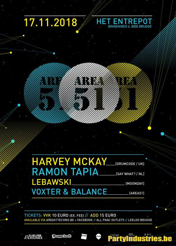 Flyer van Area 51 w/ Harvey McKay