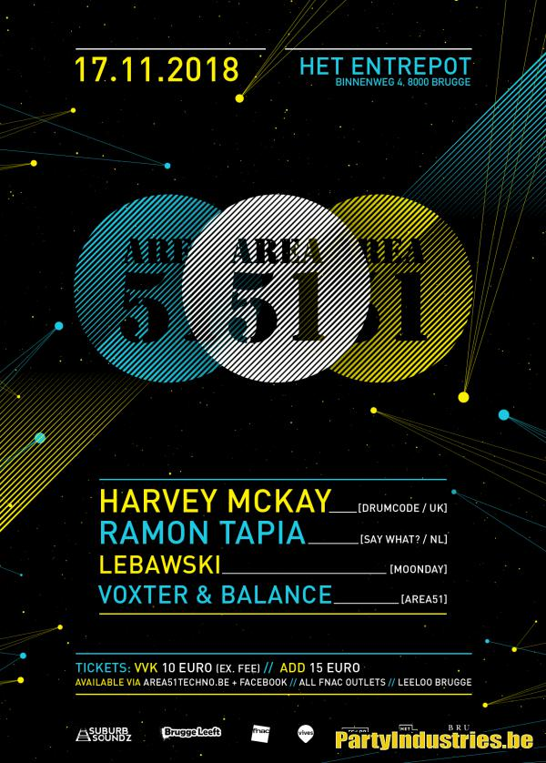 Flyer van Area 51 w/ Harvey McKay
