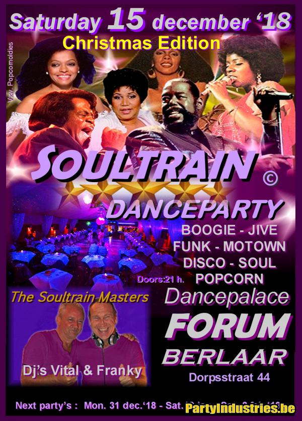 Flyer van Soultrain party - Cristmas edition