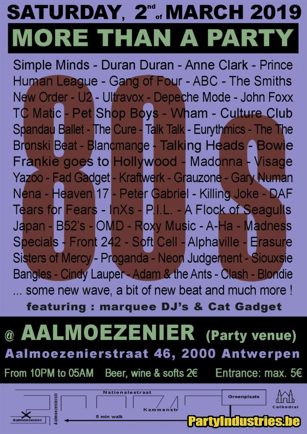 Flyer van 80s - more than a party