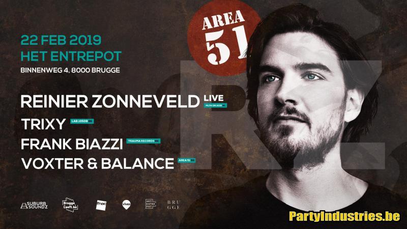 Flyer van Area 51 w/ Reinier Zonneveld LIVE