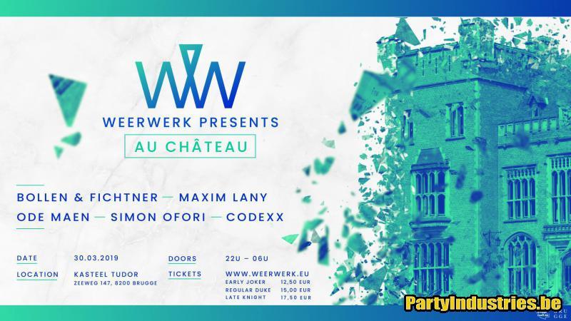 Flyer van WEERWERK // Au Château