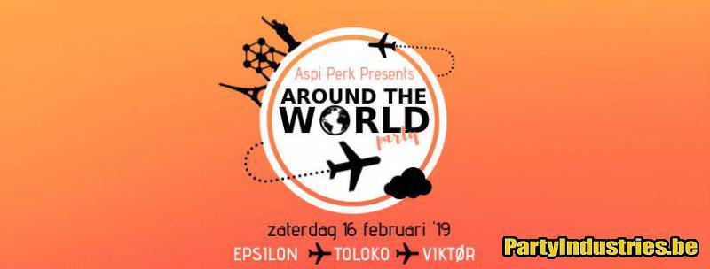 Flyer van Around the world