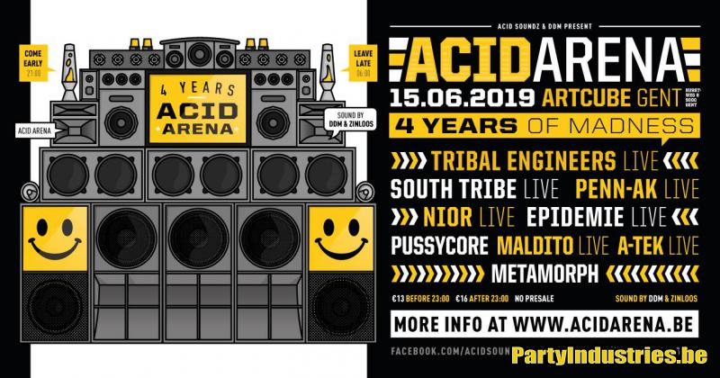 Flyer van 4 Years Acid Arena