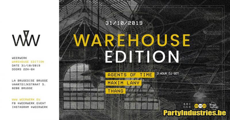 Flyer van WEERWERK // Warehouse Edition
