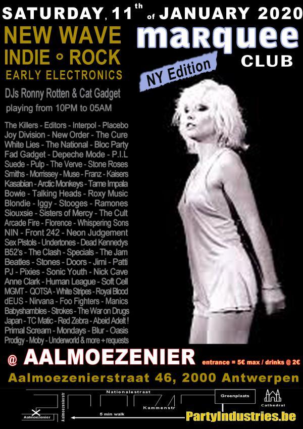 Flyer van marqueeclub NY Edition 2020