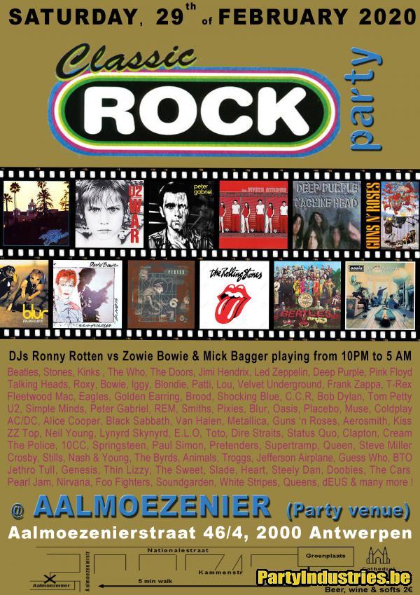 Flyer van Classic Rock Party