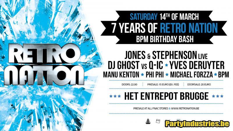 Flyer van 7 Years of Retro Nation