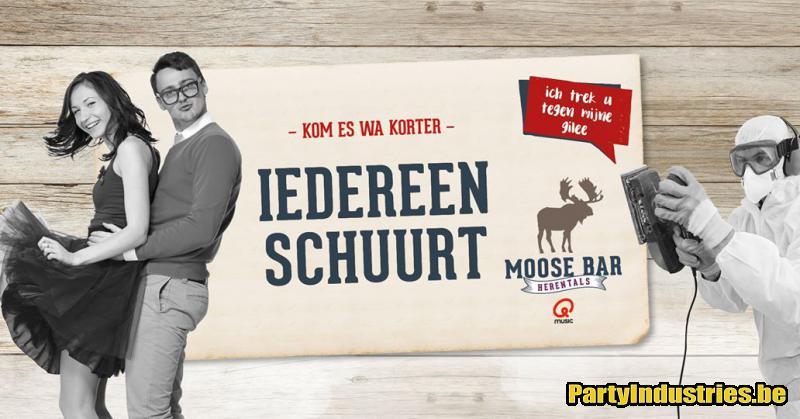 Flyer van Iedereen Schuurt met DJ Jeroen Visser