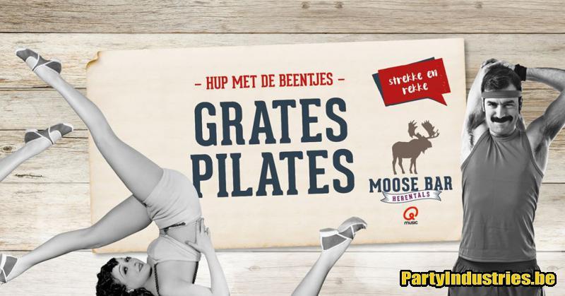 Flyer van Grates Pilates met DJ Michael More