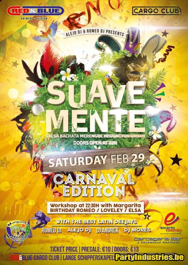 Flyer van Suavemente Carnaval Edition