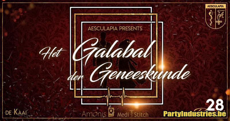Flyer van Het Galabal Der Geneeskunde - Aesculapia