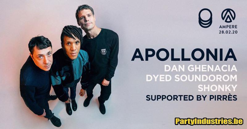 Flyer van Ampere presents Apollonia all night long
