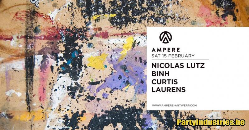 Flyer van Ampere presents Nicolas Lutz & Binh
