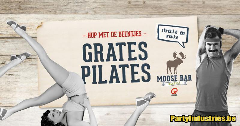 Flyer van Grates pilates met Frank Mellemans