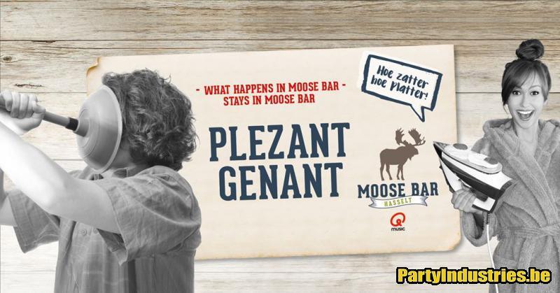 Flyer van Plezant Genant met DJ Frank Mellemans