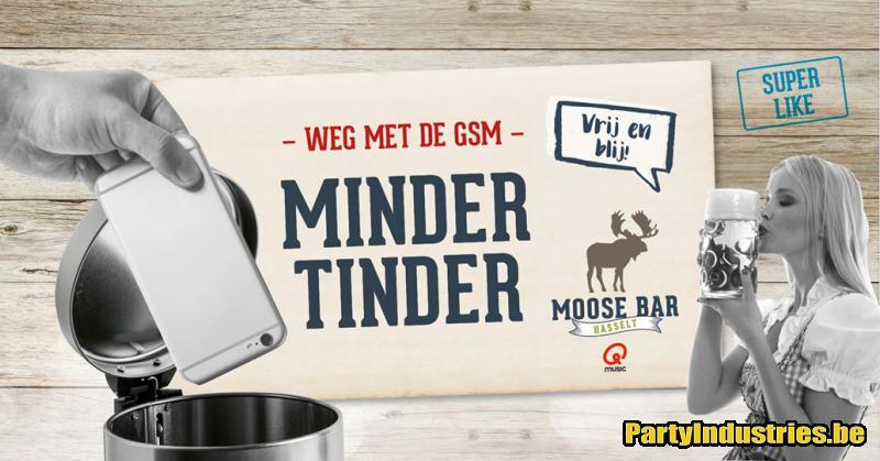 Flyer van Minder Tinder met DJ Michael More