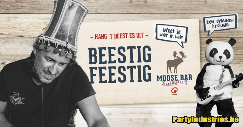 Flyer van Beestig Feestig met Feest DJ Lucki Luc & Dave Lampedair