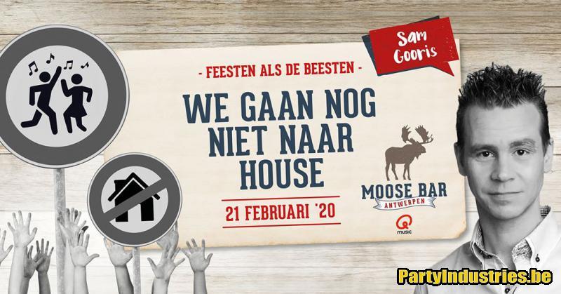 Flyer van We gaan nog niet naar House met Sam Gooris