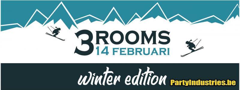 Flyer van 3 Rooms 1 Big Party Winter Edition