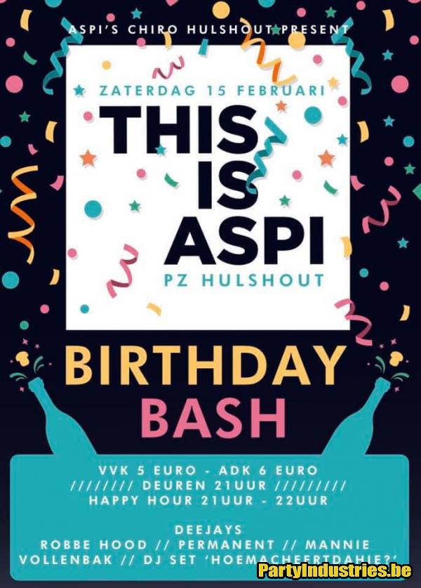 Flyer van This is Aspi - Birthday Bash