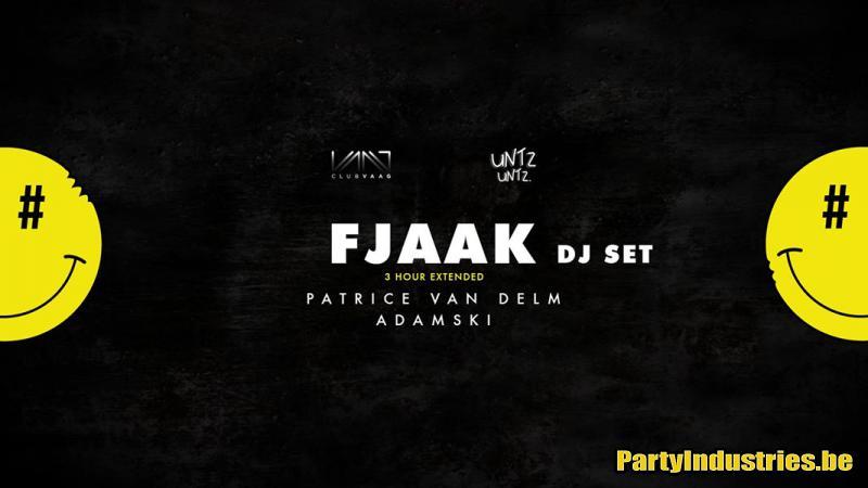 Flyer van Club Vaag & Untz Untz invite Fjaak - 3 hour extended dj set
