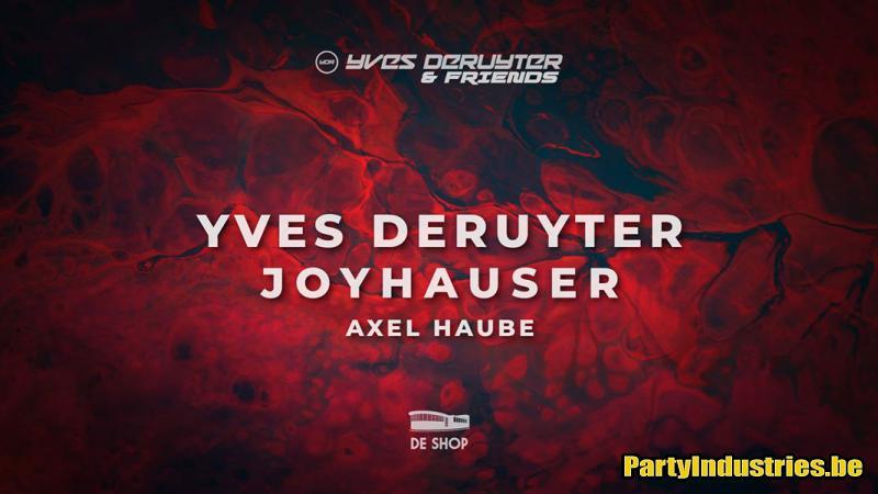 Flyer van De Shop presents Yves Deruyter & friends
