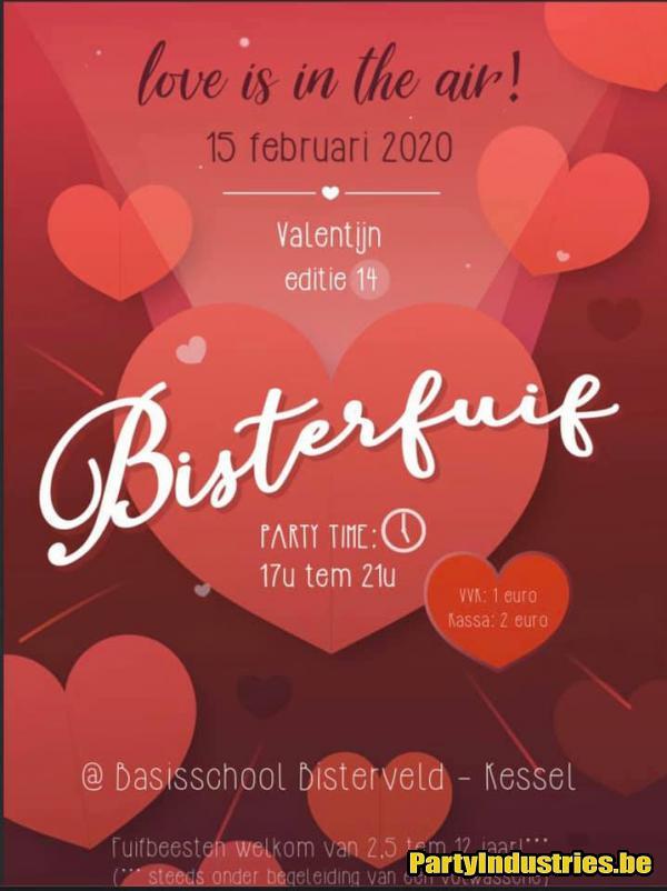 Flyer van Bisterfuif - Valentijn
