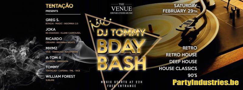 Flyer van DJ Tommy B-Day Bash