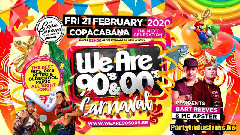 Flyer van WE ARE 90's & 00's - Carnaval
