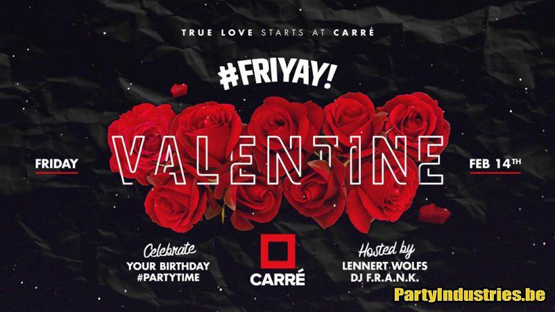 Flyer van #Friyay x Valentine