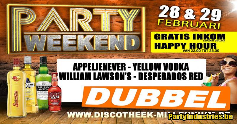 Flyer van Party Weekend - 29 februari