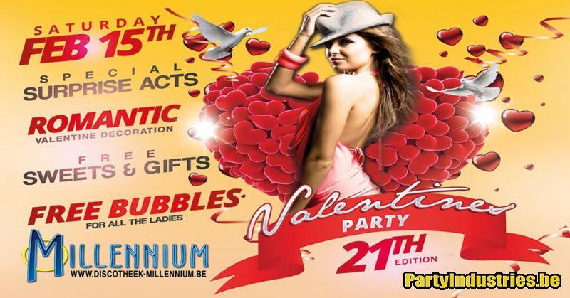 Flyer van Valentine's Party