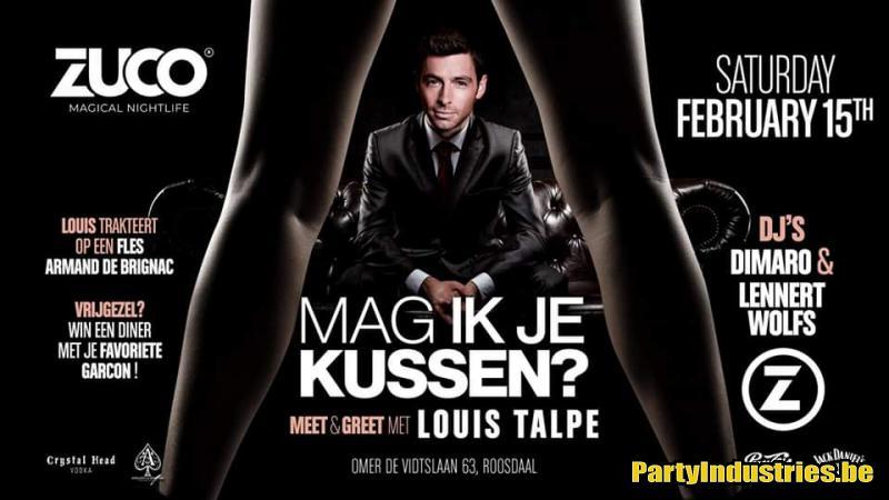 Flyer van MAG IK JE KUSSEN? Meet & Greet LOUIS TALPE