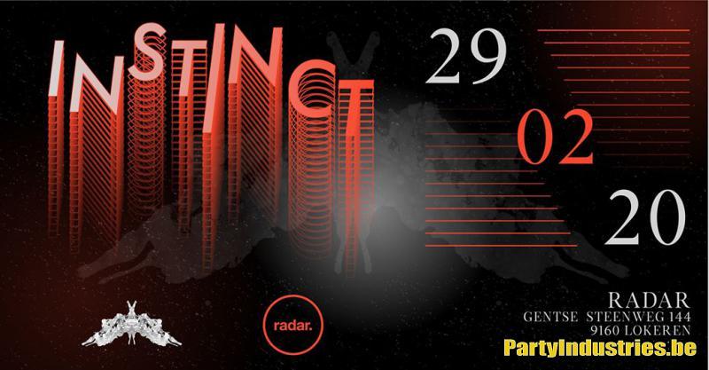 Flyer van Instinct w/ SIEGE